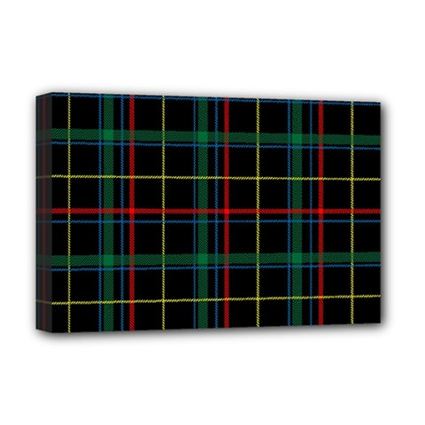 Tartan Plaid Pattern Deluxe Canvas 18  x 12