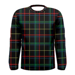 Tartan Plaid Pattern Men s Long Sleeve Tee