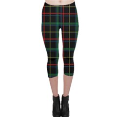 Tartan Plaid Pattern Capri Leggings