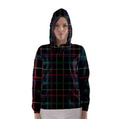 Tartan Plaid Pattern Hooded Wind Breaker (women)