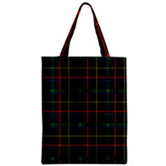 Tartan Plaid Pattern Zipper Classic Tote Bag