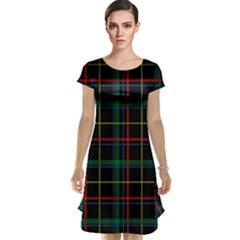 Tartan Plaid Pattern Cap Sleeve Nightdress