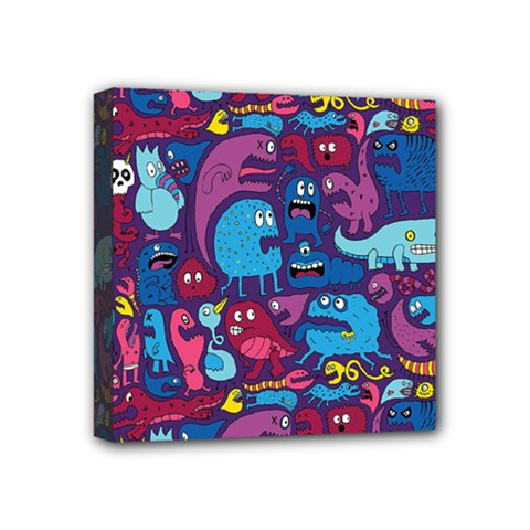 Hipster Pattern Animals And Tokyo Mini Canvas 4  x 4