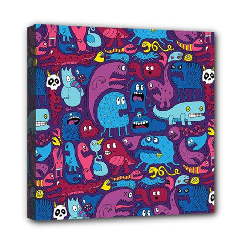 Hipster Pattern Animals And Tokyo Mini Canvas 8  x 8