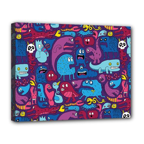 Hipster Pattern Animals And Tokyo Canvas 14  x 11