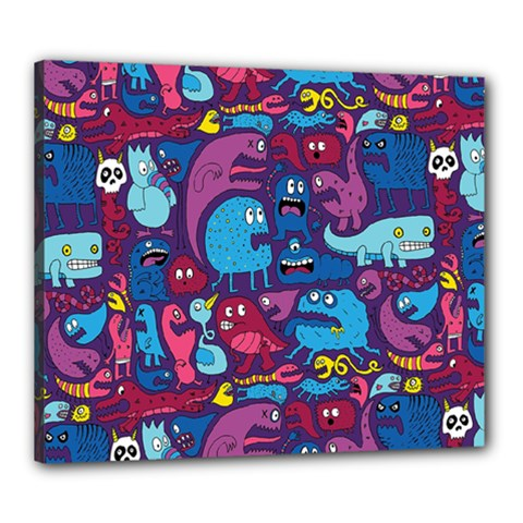 Hipster Pattern Animals And Tokyo Canvas 24  x 20