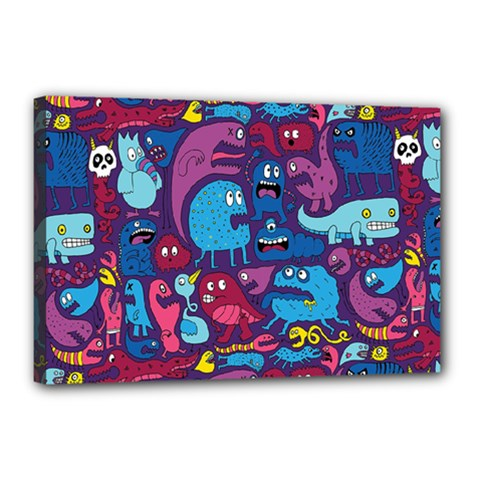 Hipster Pattern Animals And Tokyo Canvas 18  x 12