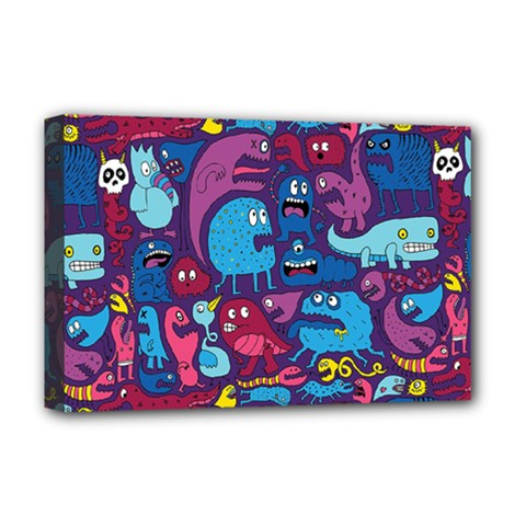 Hipster Pattern Animals And Tokyo Deluxe Canvas 18  X 12