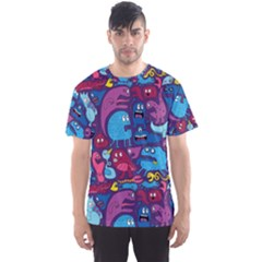 Hipster Pattern Animals And Tokyo Men s Sports Mesh Tee