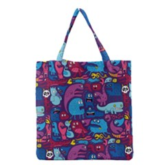 Hipster Pattern Animals And Tokyo Grocery Tote Bag