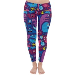 Hipster Pattern Animals And Tokyo Classic Winter Leggings