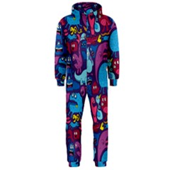 Hipster Pattern Animals And Tokyo Hooded Jumpsuit (Men)