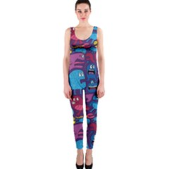 Hipster Pattern Animals And Tokyo OnePiece Catsuit