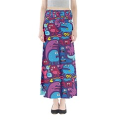 Hipster Pattern Animals And Tokyo Full Length Maxi Skirt