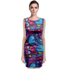 Hipster Pattern Animals And Tokyo Classic Sleeveless Midi Dress