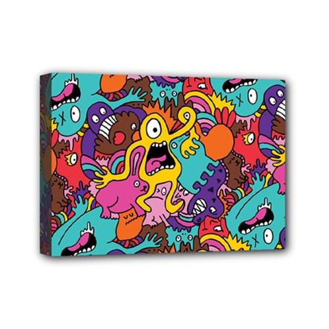Monster Patterns Mini Canvas 7  X 5