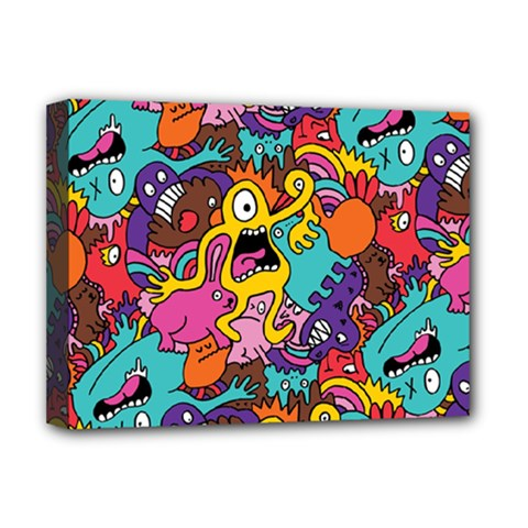 Monster Patterns Deluxe Canvas 16  X 12