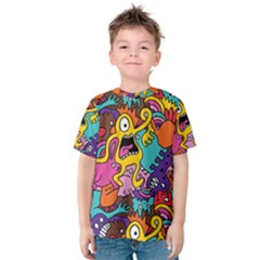 Monster Patterns Kids  Cotton Tee