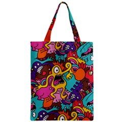 Monster Patterns Zipper Classic Tote Bag