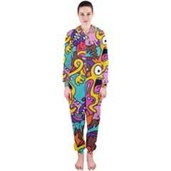 Monster Patterns Hooded Jumpsuit (Ladies)