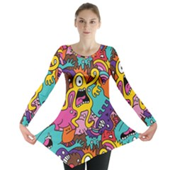 Monster Patterns Long Sleeve Tunic