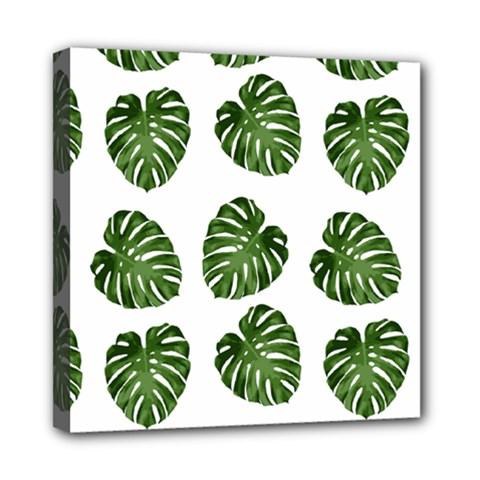 Leaf Pattern Seamless Background Mini Canvas 8  X 8