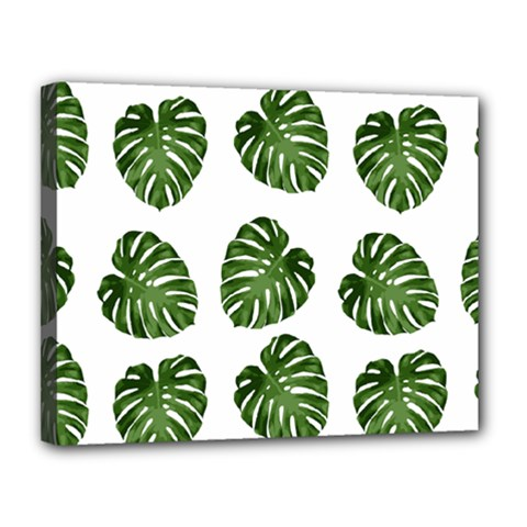 Leaf Pattern Seamless Background Canvas 14  X 11