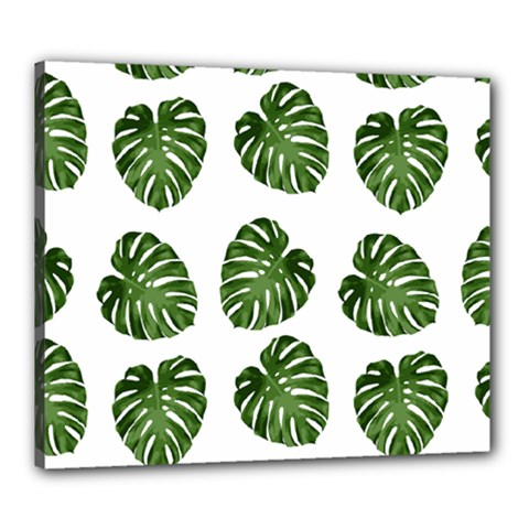 Leaf Pattern Seamless Background Canvas 24  X 20