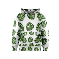 Leaf Pattern Seamless Background Kids  Pullover Hoodie
