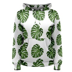 Leaf Pattern Seamless Background Women s Pullover Hoodie