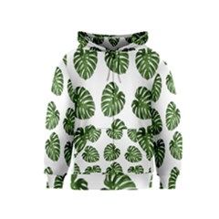 Leaf Pattern Seamless Background Kids  Zipper Hoodie