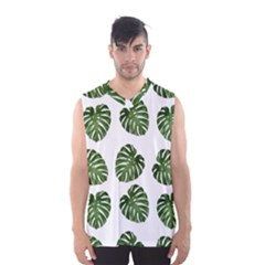 Leaf Pattern Seamless Background Men s Basketball Tank Top