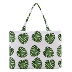 Leaf Pattern Seamless Background Medium Tote Bag