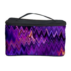 Purple And Yellow Zig Zag Cosmetic Storage Case