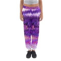 Purple And Yellow Zig Zag Women s Jogger Sweatpants