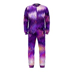 Purple And Yellow Zig Zag OnePiece Jumpsuit (Kids)