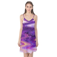 Purple And Yellow Zig Zag Camis Nightgown