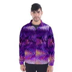Purple And Yellow Zig Zag Wind Breaker (men)