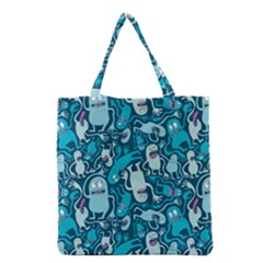 Monster Pattern Grocery Tote Bag