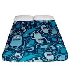 Monster Pattern Fitted Sheet (california King Size)