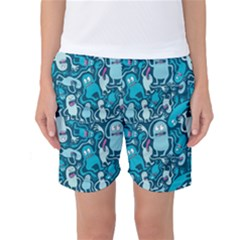 Monster Pattern Women s Basketball Shorts
