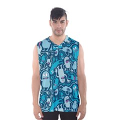 Monster Pattern Men s Basketball Tank Top