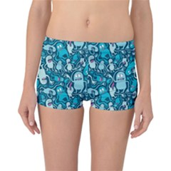 Monster Pattern Reversible Boyleg Bikini Bottoms