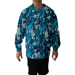 Monster Pattern Hooded Wind Breaker (Kids)