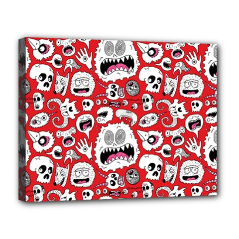 Another Monster Pattern Canvas 14  X 11
