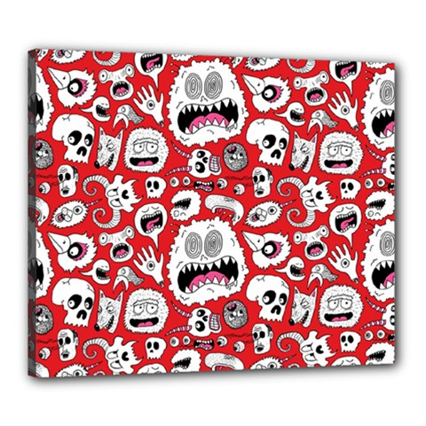 Another Monster Pattern Canvas 24  X 20