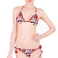 Another Monster Pattern Bikini Set