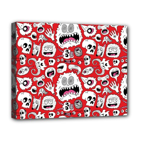 Another Monster Pattern Deluxe Canvas 20  X 16