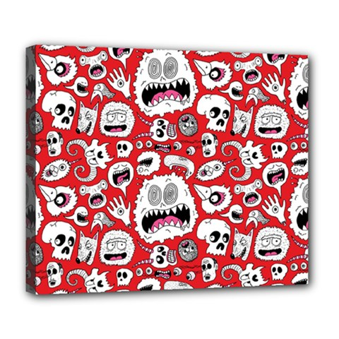 Another Monster Pattern Deluxe Canvas 24  X 20