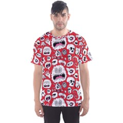 Another Monster Pattern Men s Sports Mesh Tee